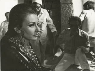 Medea (Two original photographs of Pier Paolo Pasolini and Maria Callas from the set of the 1969...