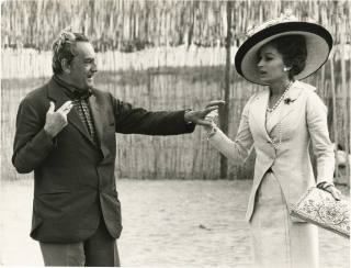 Death in Venice (Original photograph of Luchino Visconti and Silvana Mangano from the set of the...