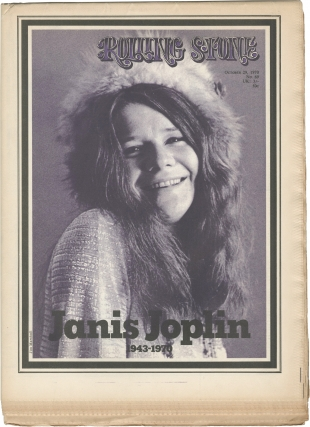 Rolling Stone magazine Issue No. 69 (Death of Janis Joplin). Rolling Stone magazine, Jann Wenner