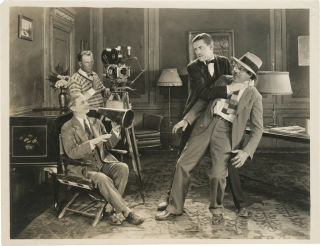 Original photograph of comedian Charley Chase choking director Leo McCarey, circa 1925. Charley...
