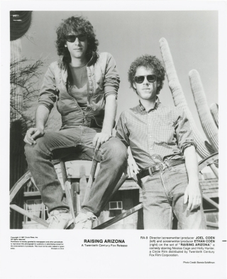 Raising Arizona (Original photograph of Joel and Ethan Coen from the set of the 1987 film). Joel...