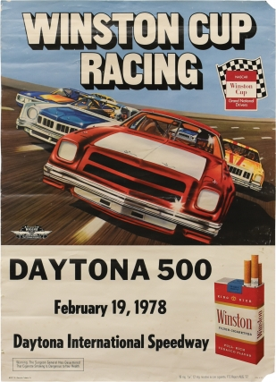 Original poster for the 1978 Daytona 500. Auto Racing