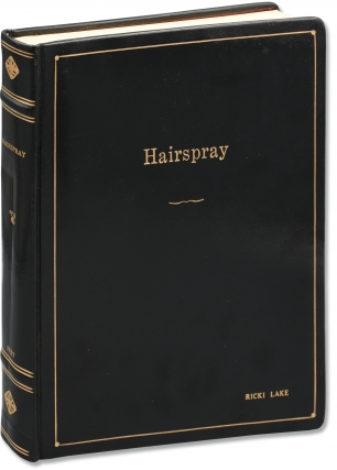 Hairspray (Original screenplay from the 1988 film, presentation copy belonging to Ricki Lake)....