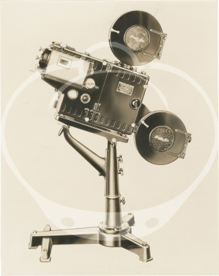 Archive of advertising and photographs for portable 35mm film projectors