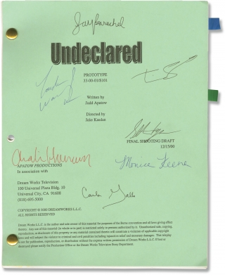 Undeclared: Prototype (Original script of the pilot episode of the 2001 television series, round...