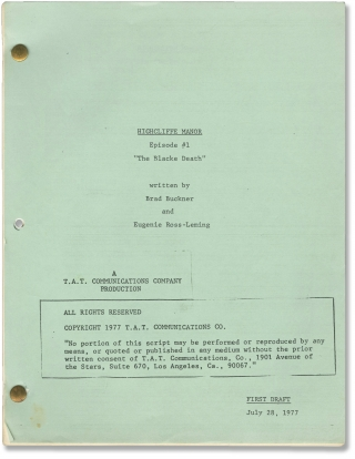 Highcliffe Manor (Three original scripts for two episodes of the 1979 television series). Robert...