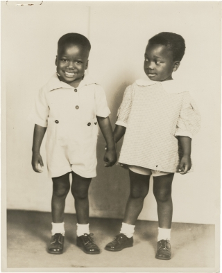 Archive of photographs and letters regarding a pair of African American twin child actors....
