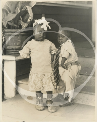Archive of photographs and letters regarding a pair of African American twin child actors