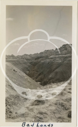 Archive of 24 vernacular photographs from a Depression-era road trip through the badlands of South Dakota, Idaho, and Wyoming