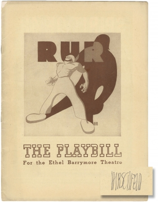 R.U.R. [Rossum's Universal Robots] (Original playbill for the 1942 Broadway revival). Karel...