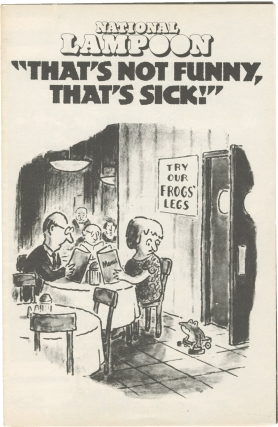 "National Lampoon ""That's Not Funny, That's Sick!"" (Original program for the 1978 music and comedy..."
