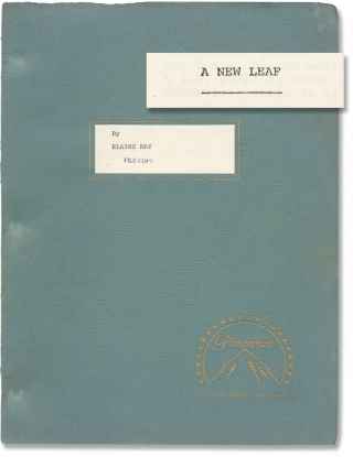 A New Leaf (Original screenplay for the 1971 film, with brief annotations). Elaine May, Jack...