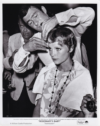 Rosemary's Baby (Original photograph of Mia Farrow and Vidal Sassoon from the set of the 1968...