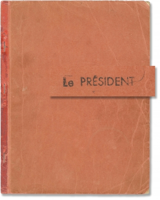 Le President [The President] (Original screenplay for the 1961 French film). Jean Gabin, Georges...