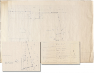 A Fine Mess (Archive of five architectural blueprints for the 1986 film). Blake Edwards, Howie...