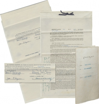 "Original Book Contract for ""Our Government,"" signed by Cain and Knopf. James M. Cain, Alfred A...."